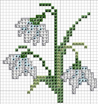 Схемы рисунков вышивки крестом цветы