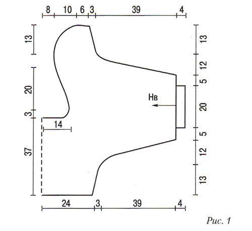 Схема болеро с длинными рукавами спицами.
