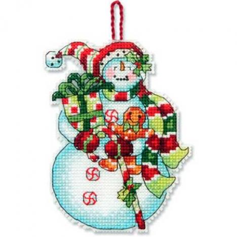 Снеговик со сладостями 8*11