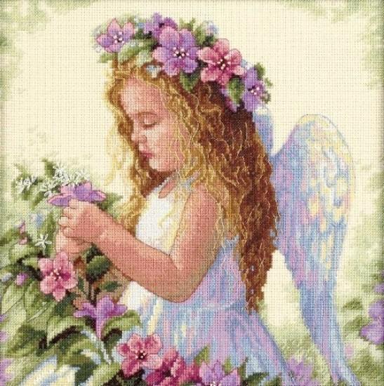 Цветочный ангел 28*28
