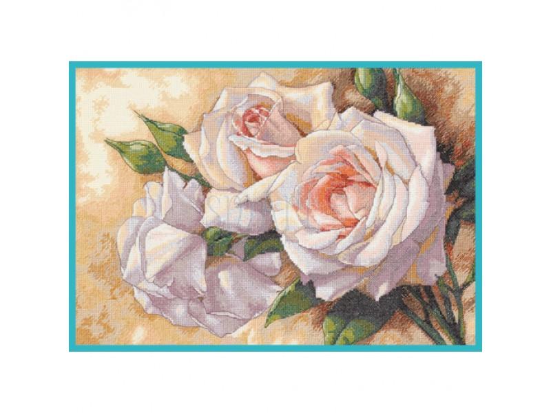 Белые розы 41*28