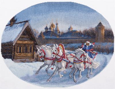 Три белых коня 45*34