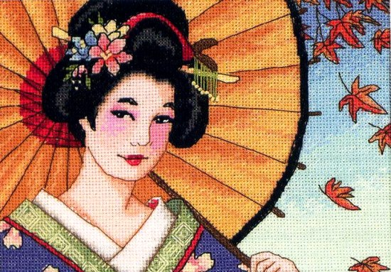 Красота гейши 18*13
